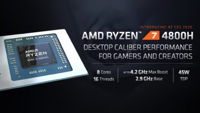 Photo of The AMD Ryzen 7 4800H will be at least 10% faster than the Intel Core i7-10750H