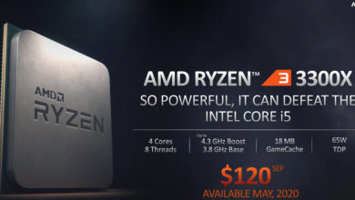 Photo of AMD Ryzen 3 3100 and 3300X Launched: Beating Intel's Core i5-9400F in Gaming