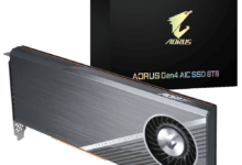 Photo of Gigabyte's Aorus Gen4 8TB AIC SSD is 3x Faster than the PS5's 5.5GB/s